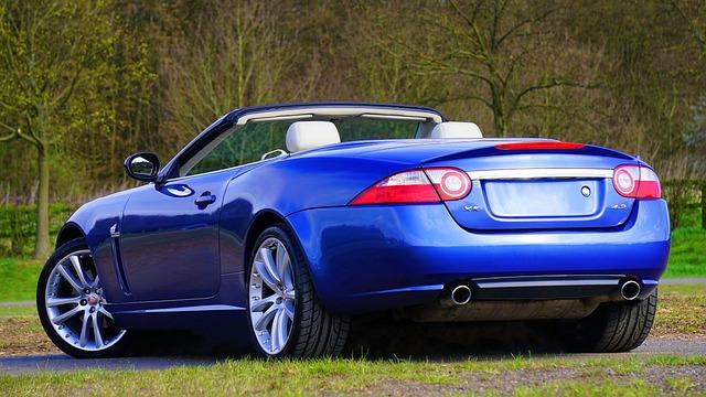 Car, Auto, Jaguar, Blue