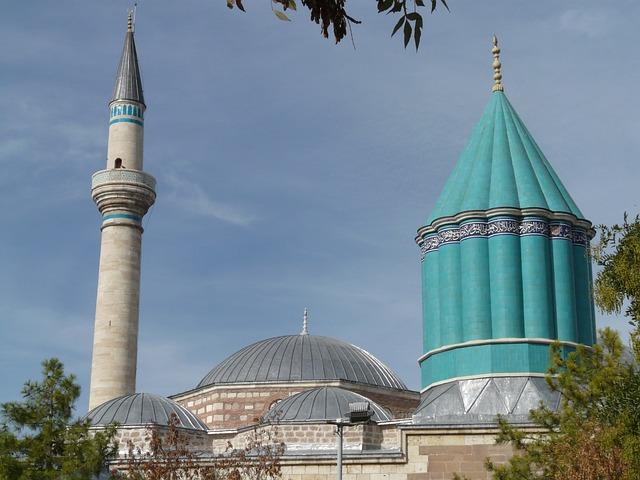 Mosque, Konya, Mausoleum, Mevlana, Jalal Ad Din Rumi