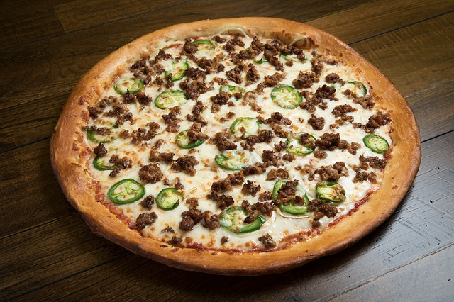 Food, Refreshment, Pizza, Cheese, Mozzarella, Jalapeño