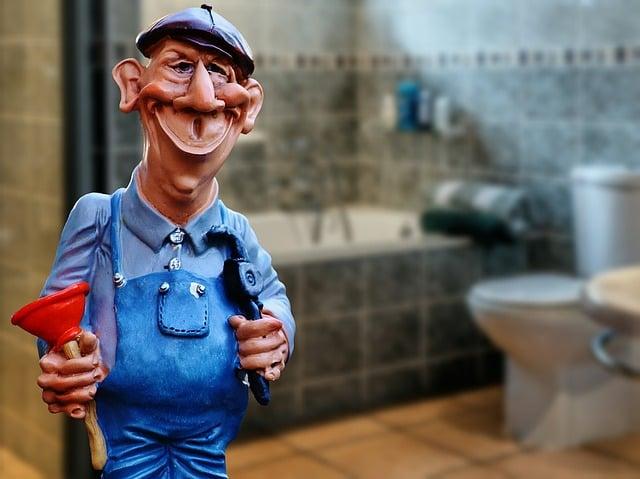 Plumber, Janitor, Pömpel, Repair, Work, Fig, Cute