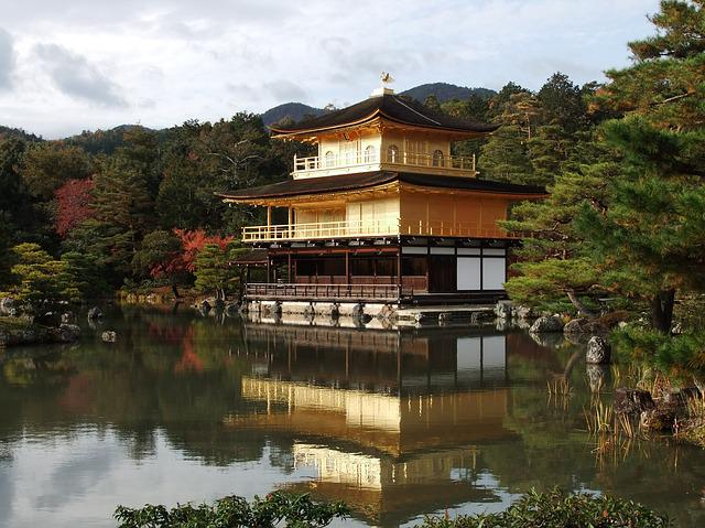 Japan, Kyoto, Kinkaku-ji, Temple, Far East, Asia