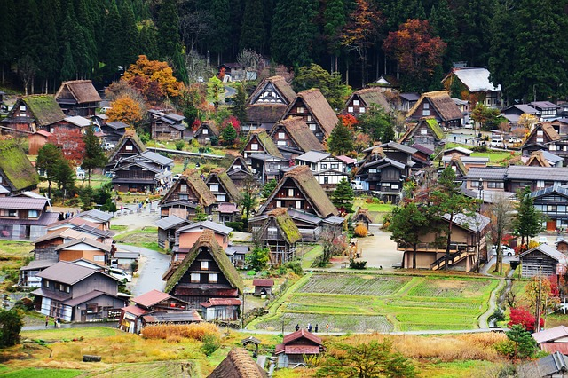 Japan, Jin Ze, Shirakawa Xiang, Building