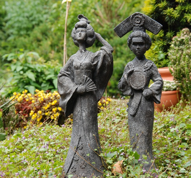 Image, Statue, Japan, Geisha, Oriental, Garden