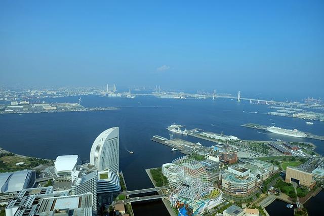 Yokohama, Japan, Port, Landmark, Kanagawa, Landscape