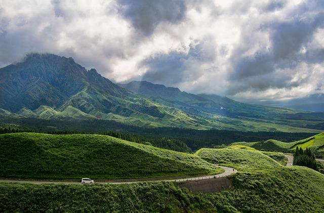 Aso, Kumamoto, Japan, Caldera, Natural, Landscape