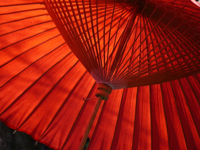 Japan, Umbrella, Red, Traditional, Tradition, Asian