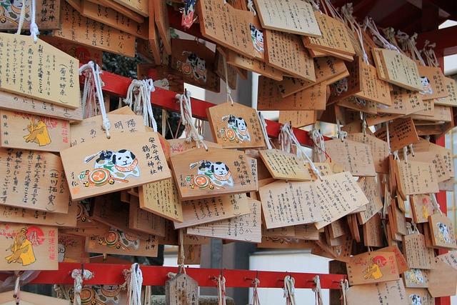 Wooden Plaque, Worship, Wish, Religion, Wooden, Japan