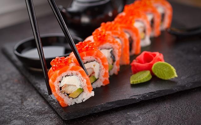 Sushi, Japanese, Plate, Power, Fish, Asia, Japan, Asian