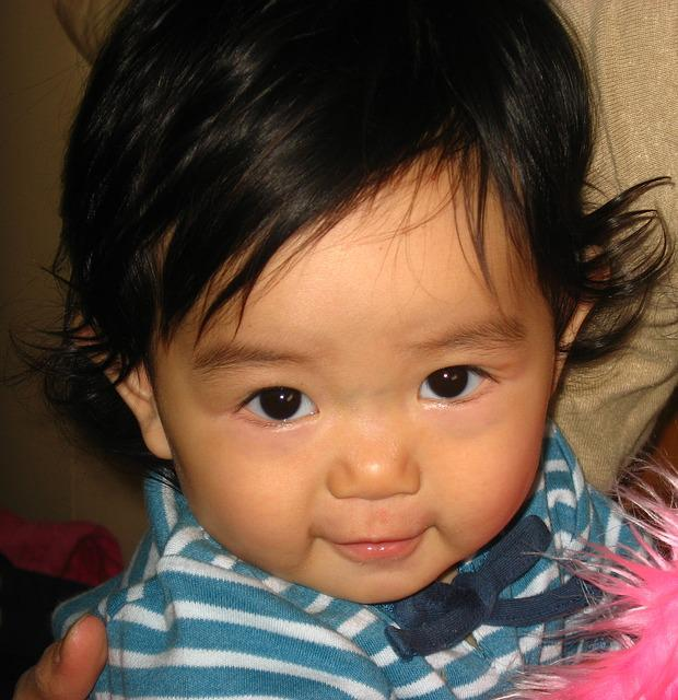 Kids, Toddler, Girls, Cute, Border, Blue, Japanese