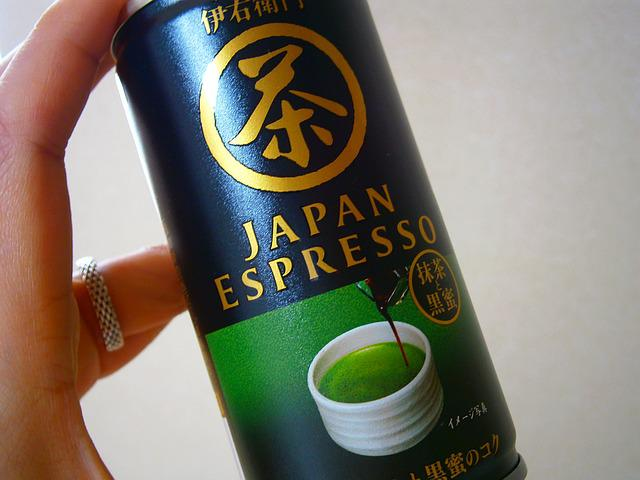 Can, Drink, Japan, Japanese, Tea, Espresso, Greentea