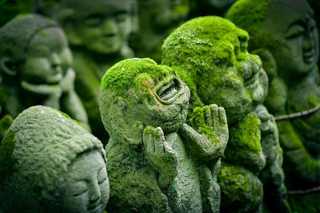 Kyoto, Japan, Statue, Jizo, Japanese, Religion, Culture