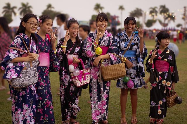 Japanese Teenager, Japanese Girl, Bon Odori