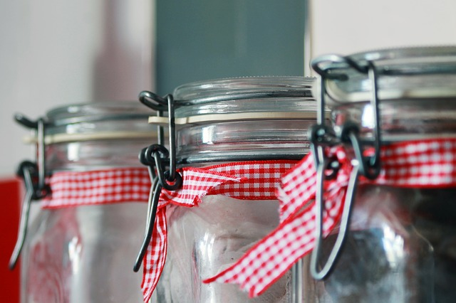 Close Up, Container, Glass, Jars, Kitchenware, Lid