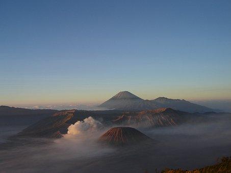 Indonesia, Bromo, Java, Landscape, Nature, Crater