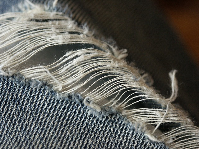 Sewing, Jeans, Thread, Ripped, Pants, Needle