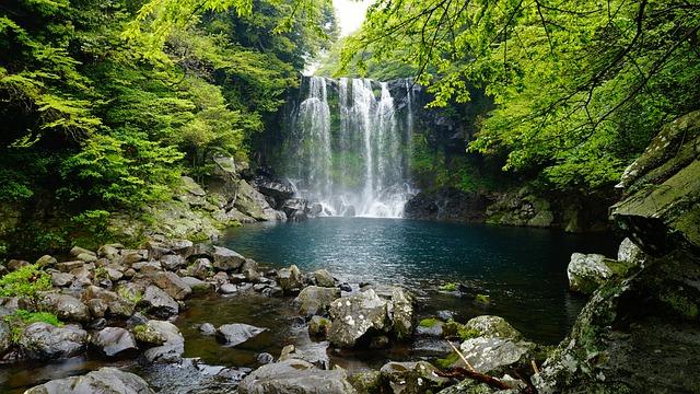 Jeju Island Falls Cheonjeyeon, Jeju Cheonjeyeon Falls