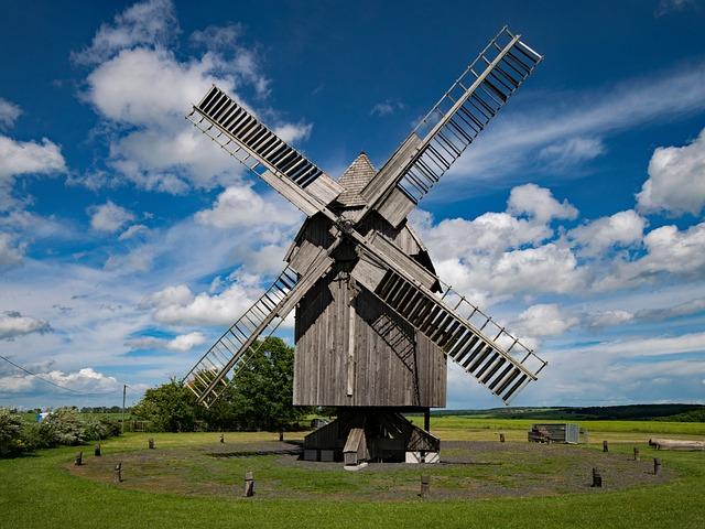 Post Mill, Nativity Village, Jena, Thuringia Germany