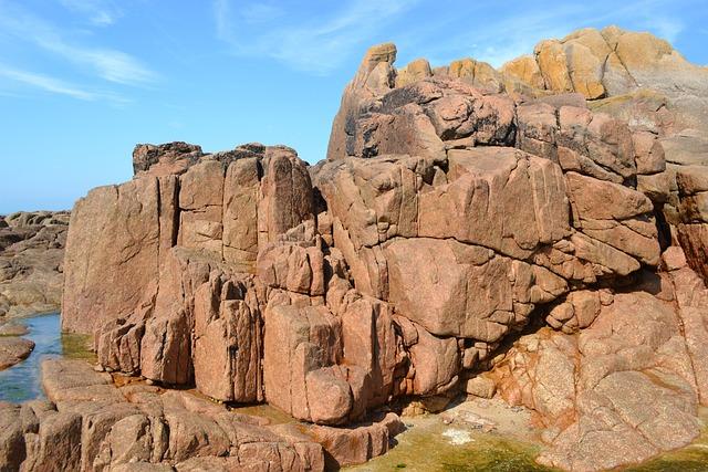 Rocks, Rocky Shore Line, Jersey, Channel Islands