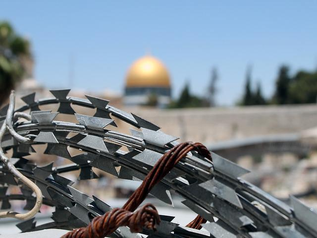Barbed Wire, Jerusalem, Israel, Palestine, Wailing Wall