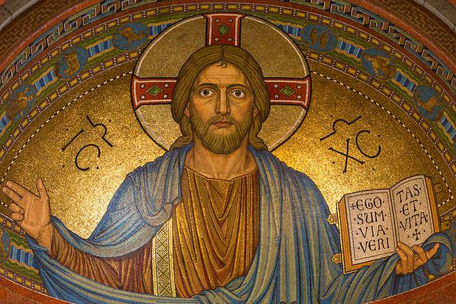 Christ, Jesus, Religion, Mosaic, Easter, Gold