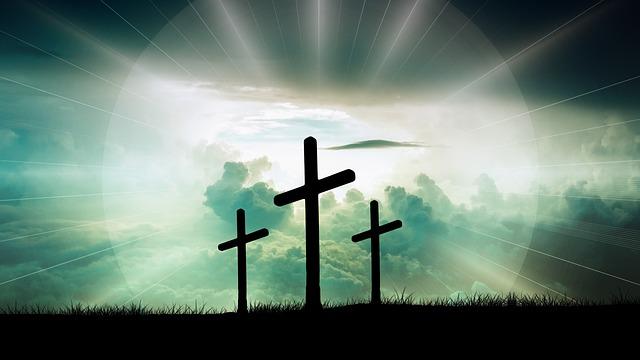 Crosses, Clouds, Faith, Christ, God, Jesus, Sun, Light