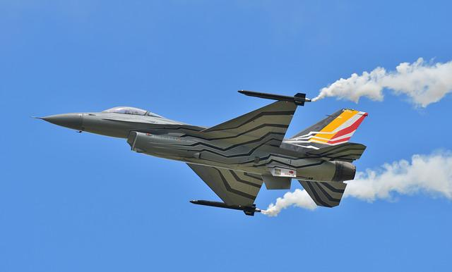 Airplane, Jet Fighter, Aircraft, Fe16, Belgium Airforce