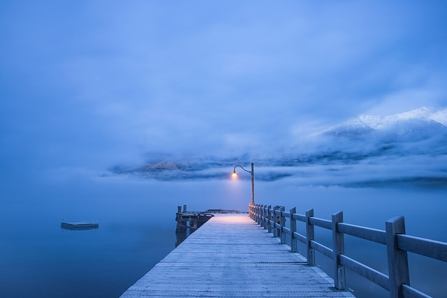 Water, Jetty, Ocean, Pier, Sea, Beach, Foggy, Misty
