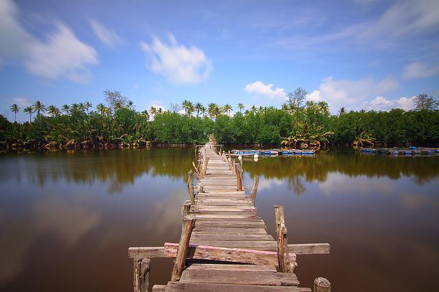 Natural, Jetty, River