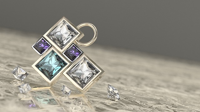 Jewel, Pendant, Gemstone, Diamond, 3d, Stereo