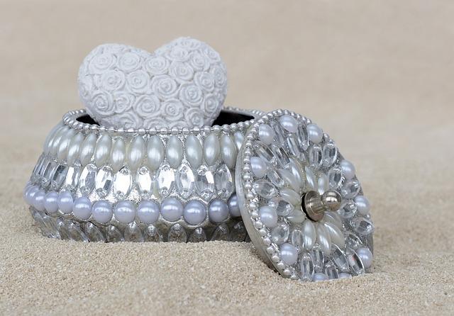 Jewelry Box, Beads, Gloss, Silver, Nacre, Jewellery