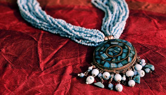 Amulet, Pearl Necklace, Jewellery, Velvet, Silk