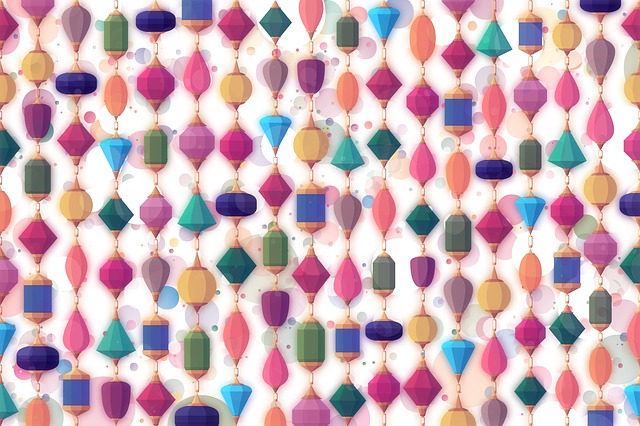 Background, Colorful, Stones, Jewels, String