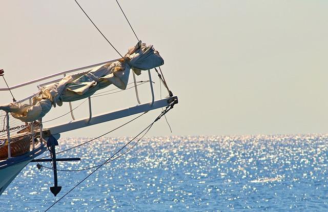 Sailing Vessel, Klüver, Jib Boom, Ship, Sea, Water