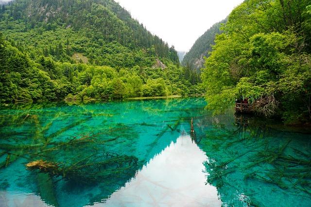 Sichuan, Jiuzhaigou, Lake