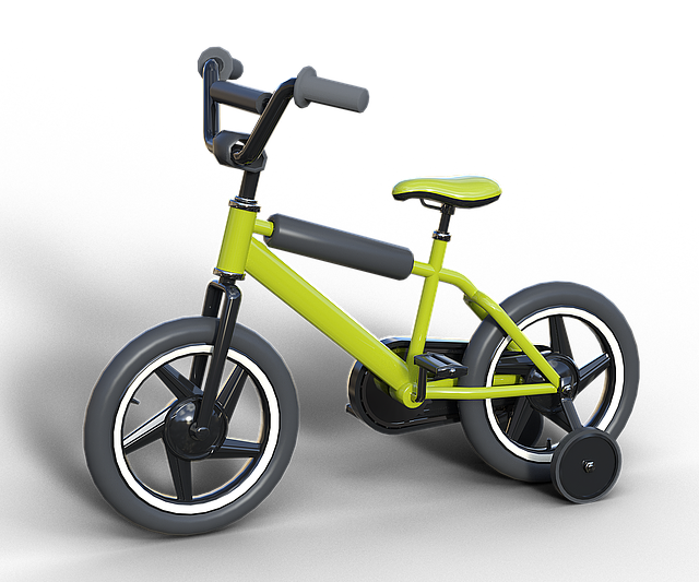 Bike, Child's Bike, Drive, Jockey Wheel, Locomotion