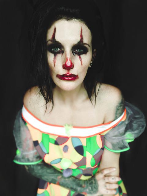 Clown, Joker, Fool, Gloomy, Sad, Make Up, Halloween
