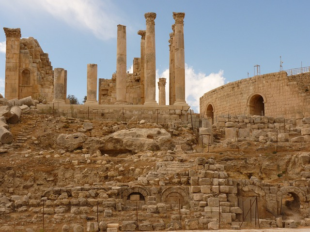 Temple Of Artemis, Gerasa, Jerash, Jordan, Holiday