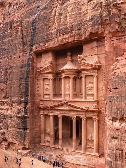 Petra, Jordan, Treasury, World Heritage Site