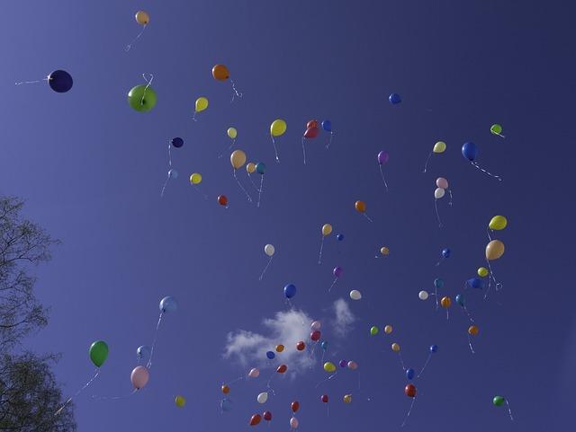 Balloons, Anniversary, Inkblot, Jork