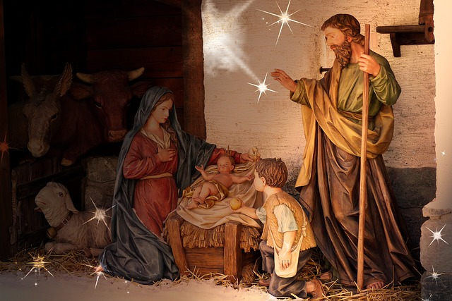 Crib, Child, Santon, Maria, Josef, Jesus