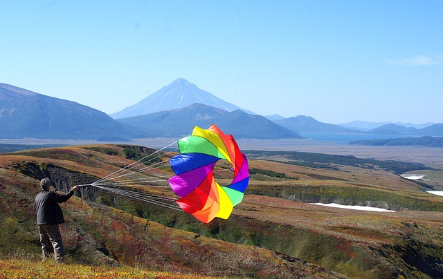 Kite, Mountain Plateau, Volcano, Mountains, Journey