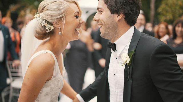 Wedding, Couple, Groom, Bride, Love, Happiness, Joy
