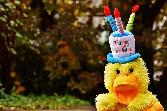 Birthday, Congratulations, Duck, Greeting Card, Joy