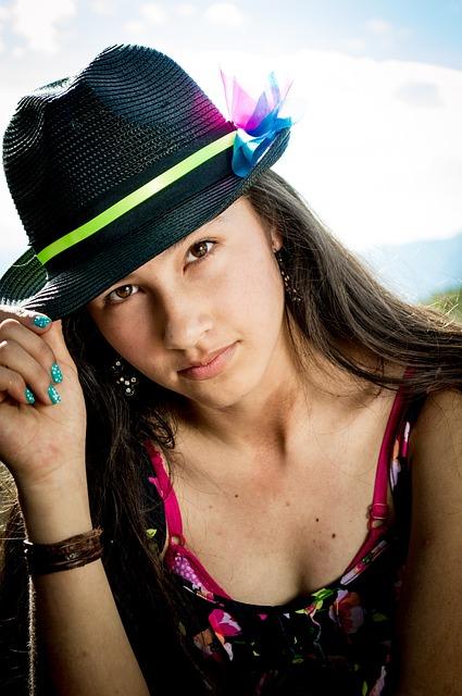 Girl, Joy, Smiling, Face, Model, Portrait, Hat