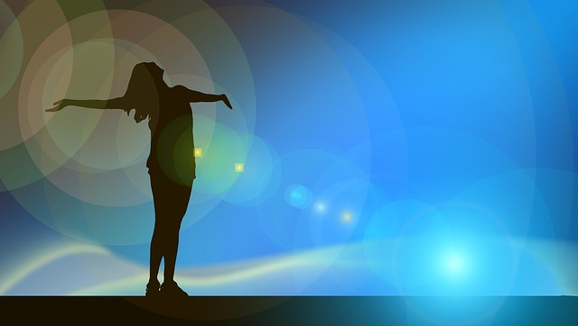 Woman, Silhouette, Flare, Joy, Person, Human