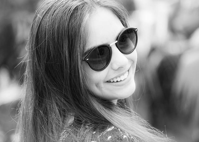 Smiling, Face, Happy, Joy, Model, Sunglasses, Beauty