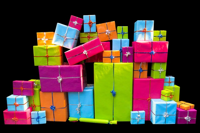 Christmas, Give, Packages, Joy, Surprise, Packed, Gift