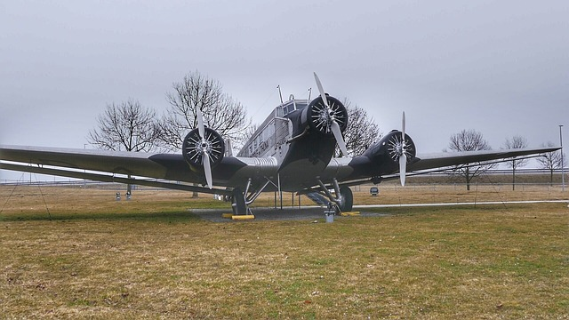 Aircraft, Grass, Sky, Military, Horizontal, Ju 52