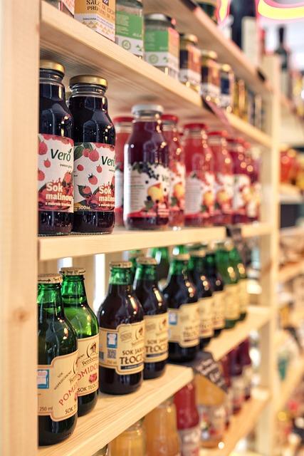 Healthy, Juice, Eco, Bottle, Bookstand, Shop, Market