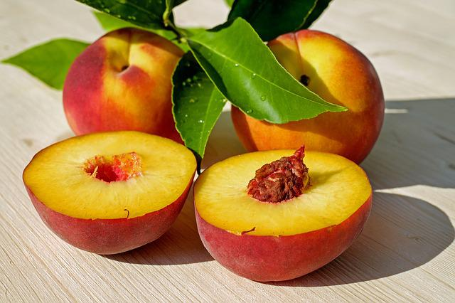Peach, Fruit, Red, Yellow, Juicy, Ripe, Delicious